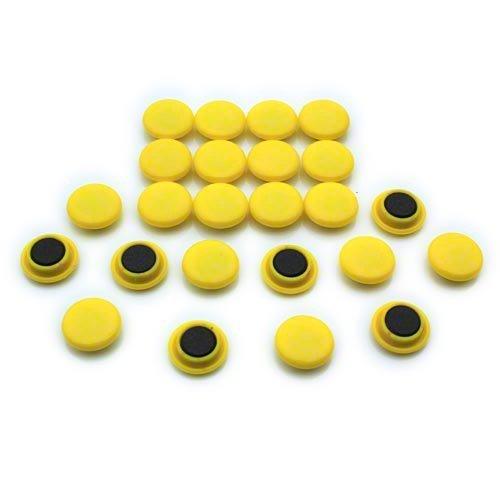 Magnet Expert® Petit planification/avis planche aimants, jaune, 1 pack de 24