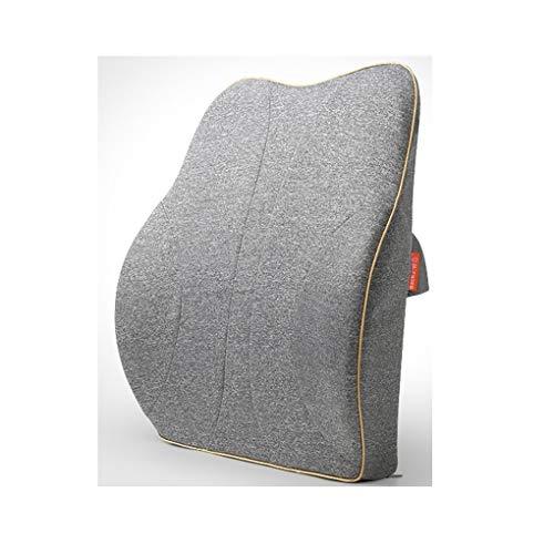 Car waist pillow neck pillo Auto Kissen Büro Lendenwirbel Stuhl Sitz Taille Bett Stirnband Taille Kissen Speicher Baumwolle Kissen Stuhl Rückenpolster Taille Unterstützung Schmerzlinderung Deep Indigo -