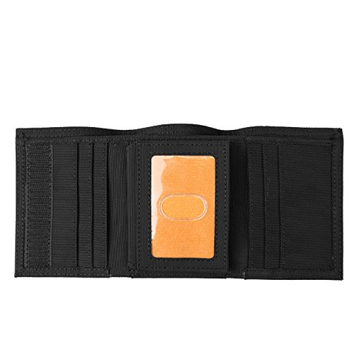 Timberland PRO Men s Cordura Velcro Nylon Trifold Wallet with ID Window  Black