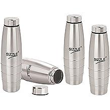 Sizzle Stainless Steel Fridge Water Bottle 1000Ml 4Pc Set