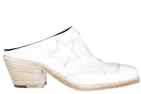 MCQ Alexander McQueen sabots chaussures femme en cuir blanc EU 39 447270 R2404 9000