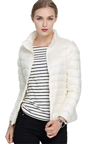 Sytiz New Winter Down Coat Women Warm Chic Parkas Solid Stand 90% White Duck Long Sleeve Jackets Light Slim Autumn - Outdoor Research-womens Vest