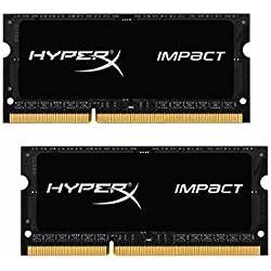 HyperX HX316LS9IBK2/16 Impact 1600MHz DDR3L CL9 SODIMM (Kit de 2) 1.35V 16 Go