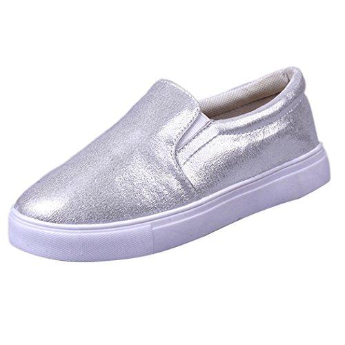 Printemps Femmes mocassins, Fashion Casual Flats Chaussures, Lazy Sports Chaussures Blanc