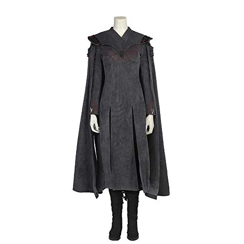Game Frauen Thrones Kostüm Of - QWEASZER Game of Thrones 7 Daenerys Targaryen Kostüm Mutter der Drachen Cosplay Frauen Kleid Halloween Kostüm Outfit Film Kostüm Requisiten Deluxe Edition,Black-S