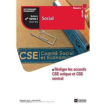 Bulletin spécial Rédiger les accords CSE unique et CSE central