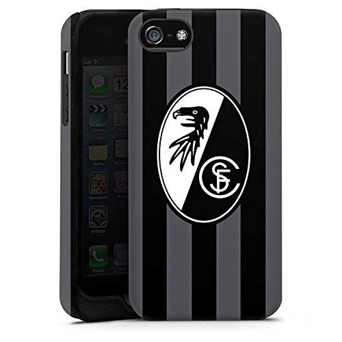 Apple iPhone 5 Silikon Hülle Case Schutzhülle SC Freiburg Fanartikel SCF Tough Case matt