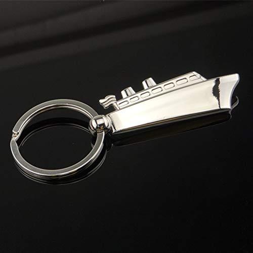 YCETO Metallschiff Schlüsselschnalle Metallauto Schlüsselschnalle 3D Dreidimensionale Schlüsselanhänger Geschenk