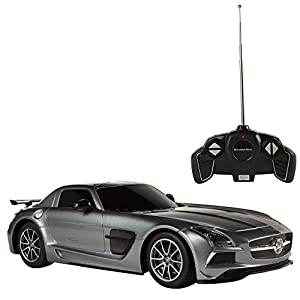 Rastar - Coche teledirigido 1:18 Mercedes Benz SLS, Gris (85036)