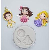 Moldes silicona Princesas virgen muñecas manualidades apliques moños porcelana fría fimo