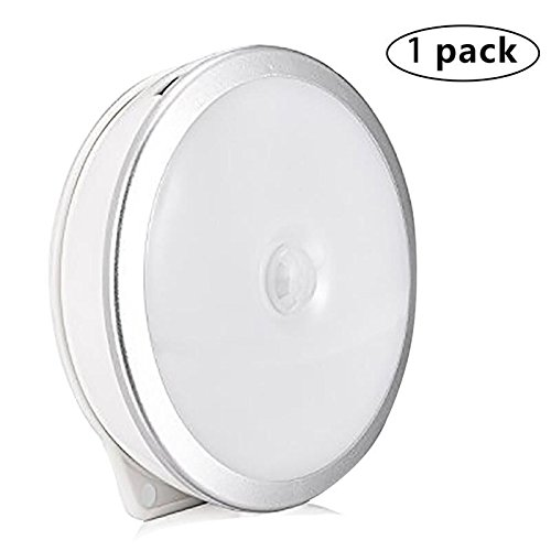 Motion-Sensor LED Nacht Licht Tisch Lampen Wireless Stick Überall Sicherheit Licht Wandleuchten Sicher Ligths für Innen Outdoor für Treppen Schlafzimmer Küche Schrank von haiyitong 1 Pack White-1pack …