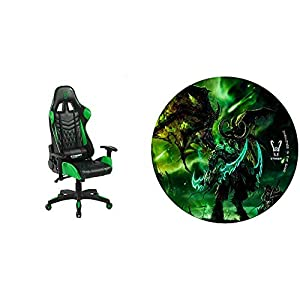 Woxter Stinger Station Pro Green – Silla Gaming (Racing) + Alfombrilla Gaming de Suelo