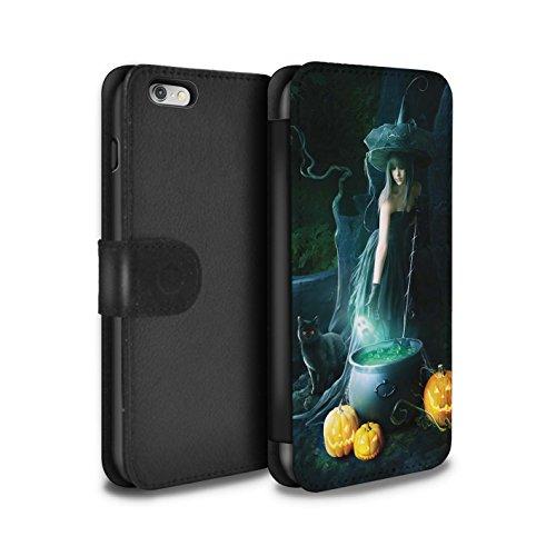 Officiel Elena Dudina Coque/Etui/Housse Cuir PU Case/Cover pour Apple iPhone 6S+/Plus / Pack 6pcs Design / Magie Noire Collection Sorcière Chaudron