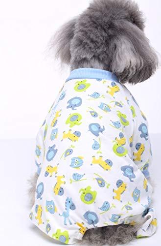 DMMW Ropa para Mascotas, Gatos y Perros, Elefante Azul, Poni, búho Animal,...