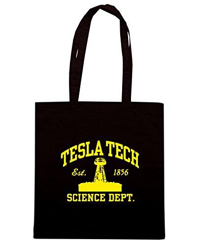 T-Shirtshock - Borsa Shopping OLDENG00681 tesla tech Nero