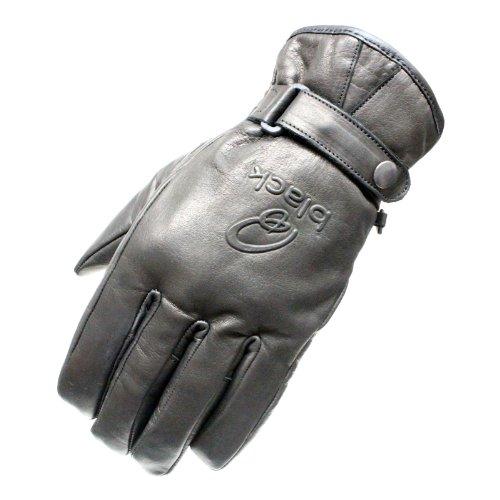 5099–0109–Schwarz Echo Leder Motorrad Handschuhe 3X L