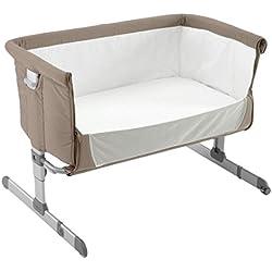 Chicco Next2me - Cuna de colecho con anclaje a cama y 6 alturas, color marrón