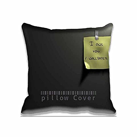 Home Decorative Accent Throw Pillow Cover Funny Black Cushion Case Pillow Sham for Sofa(No Pillow)18x18inch