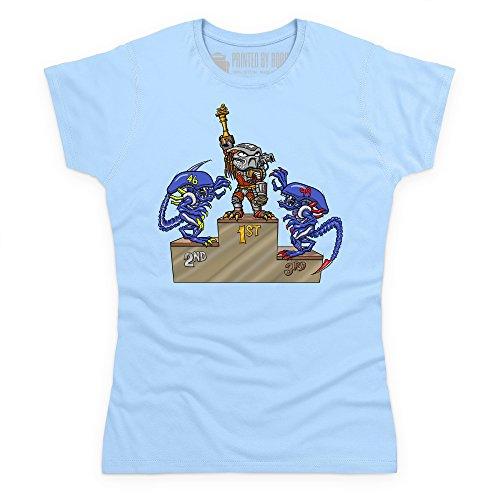MCN AvP T-Shirt, Damen Himmelblau