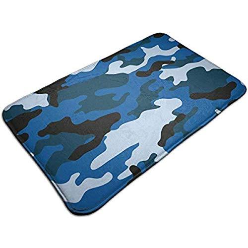 eruerueruruer Blue Camo Entrance Mat Floor Mat Rug Doormat Indoor/Bathroom Rubber Non Slip 23.6