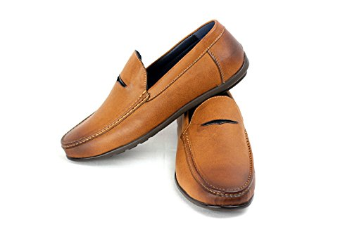Mens Slipper Smart Driving Mocassino Marrone