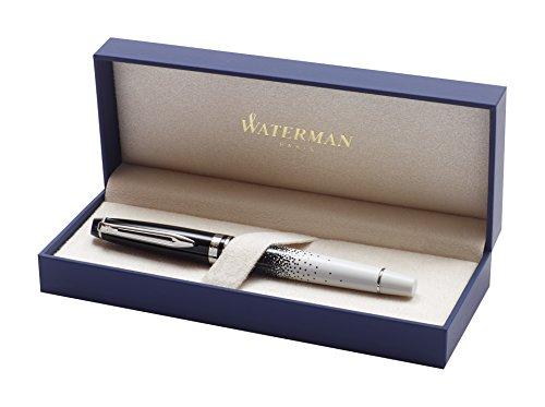 Cream et Lumieres Waterman-Penna stilografica con finiture cromate, in confezione regalo Penna roller Ball Pen Expert