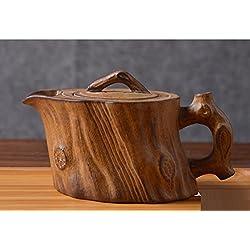 GAOJIAN Antike Persönlichkeit Teekanne Baum Kopf Stump Topf Keramik Lila Sand Teekanne Kapazität 190 ml