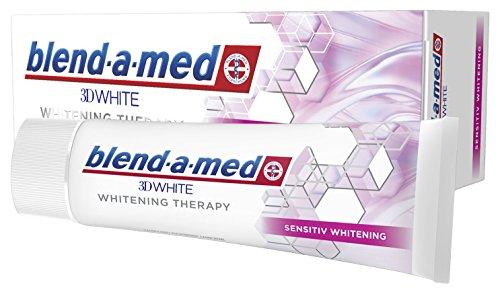 Blend-a-med 3D-White Whitening Therapy Zahnpasta (Sensitiv Whitening) 1er Pack (1 x 75 ml) - Oral-b-fluorid