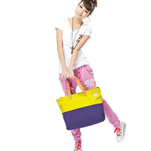 &ZHOU femminile borsa di tela borsa a tracolla grande capacità zaino borsa Messenger di svago del messaggero di moda , purple Blue