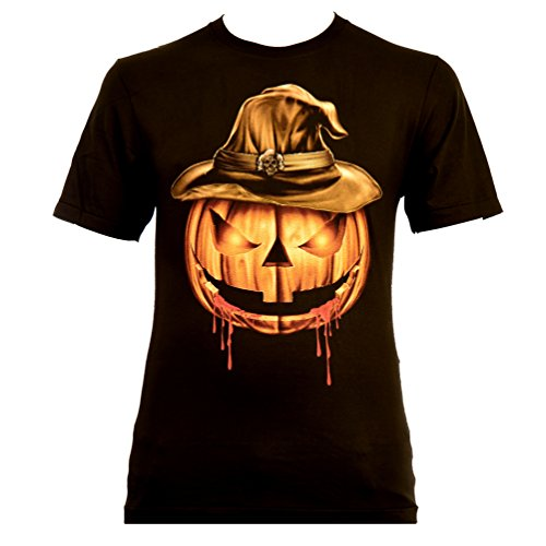 loween Pumpkin T-Shirt Glow in The Dark Nightmare (XXXL) (Glow In The Dark T-shirts Für Halloween)