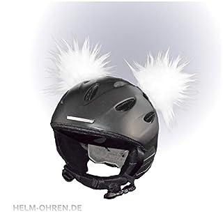 Helm-Ohren für Skihelm, Snowboardhelm, Kinder-Helm, Kinder-Skihelm, Motorradhelm oder Fahrradhelm - verwandelt den Helm in EIN EINZELSTÜCK - der HINGUCKER - für Kinder und Erwachsene HELMDEKO (Weiß)
