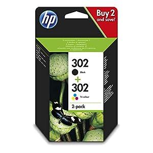 HP 302 Multipack X4D37AE Confezione da 2 Cartucce Originali, per Stampanti HP DeskJet serie 1100, 2130, 3630, 5200, HP… 4 spesavip