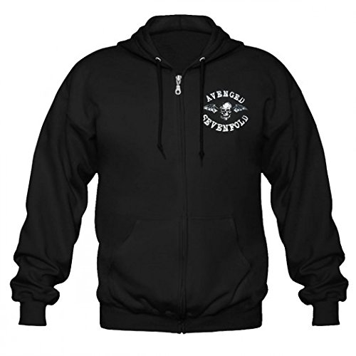 Avenged Sevenfold-Felpa con cappuccio e zip, con Logo, motivo floreale nero XXL