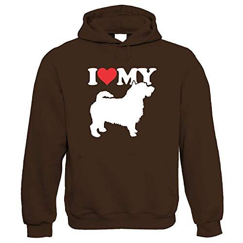 I Love My Cairn Terrier Kapuze Hund Geschenk Pelz Baby Geliebten Eigentümer Herren Best Friend Handwerkskünste Hund Show Hundehütte Verein Pedigree Rasse Welpe Hunde Geschenk Ihn Sie Geburtstag -