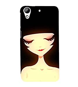 Cute girl Back Case Cover for HTC Desire 728g Dual::HTC Desire 728G::HTC Desire 728