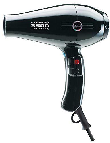Gamma Piu 3500 Power - Secador de pelo, color negro