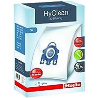 Miele 9917730 Staubbeutel HyClean 3D, Inhalt: 4 Staubbeutel , 1 Air Clean Abluftfilter für saubere Raumlauft, 1 Motorschutzfilter, blau