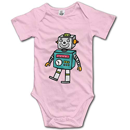 TKMSH Cute Robot Toy Boy's & Girl's Short Sleeve Baby Climbing Clothes - Boy Robot Kostüm