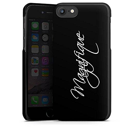 Apple iPhone 6 Plus Silikon Hülle Case Schutzhülle Magnifique Schrift ohne Hintergrund Hard Case schwarz