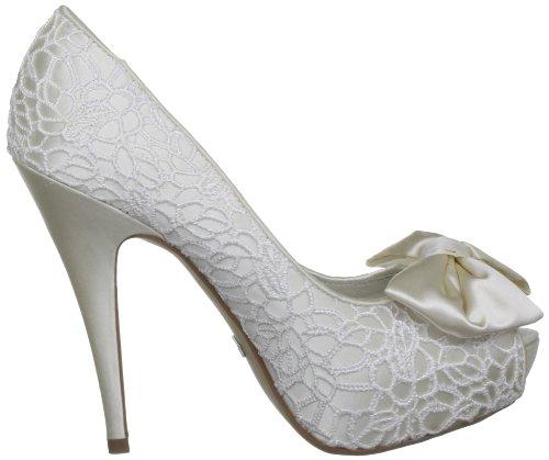 Menbur Wedding Galatea 5370, Scarpe col tacco da sposa Avorio (Elfenbein (Ivory 04))