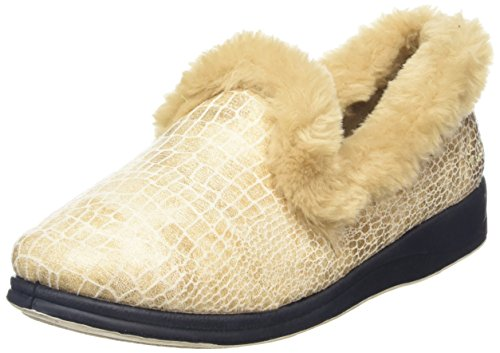Padders Luxury, Pantofole Donna, Blacks Beige (30 Buff Combi)