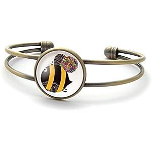 Armband mit cabochon, Biene