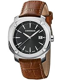 WENGER Unisex-Armbanduhr Analog Quarz Leder EDGE INDEX NO: 01.1141.111