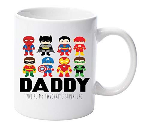 Daddy you are my favourite super eroe 311,8gram tazza in ceramica festa del papà dad gift