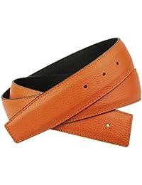 Orange Réversible Ceinture en cuir véritable pour homme   Femme 31 ... f2391402218
