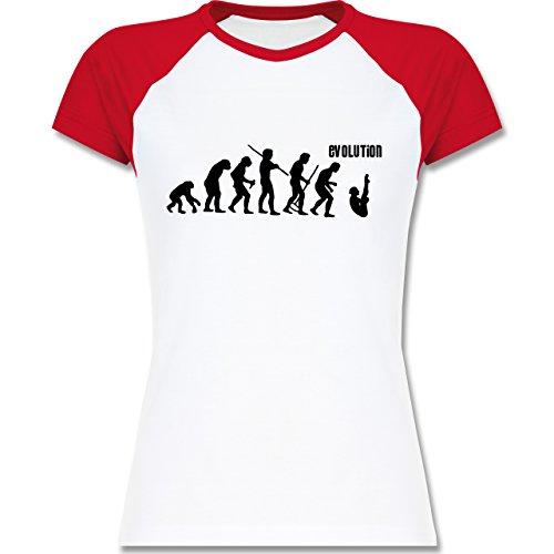 Evolution - Turmspringen Evolution - zweifarbiges Baseballshirt / Raglan  T-Shirt für Damen Weiß/