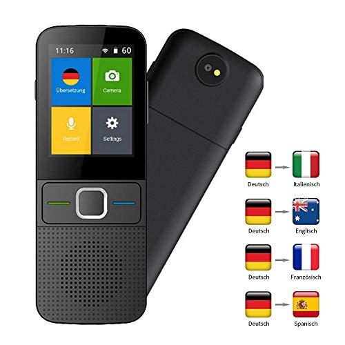 MOGOI Sprache übersetzer Ausrüstung, Smart Sprachübersetzer Device, WiFi 4G 2,4-Zoll-Touchscreen-Unterstützung 137 Sprachen Und Fotografieren Übersetzung