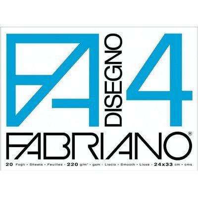 Fabriano 05201797 Disegno 4 Set 20 Fogli Liscio Riquadrato 33 x 48 220 g/mq