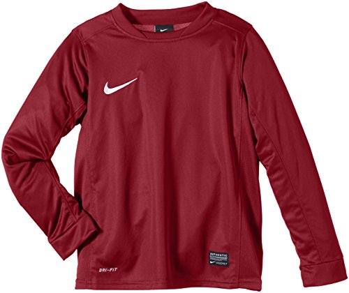 Nike Long Sleeve Top Park V Children Jersey, Ragazzo, T-Shirt Langarm Park V Game, Rosso / bianco, L