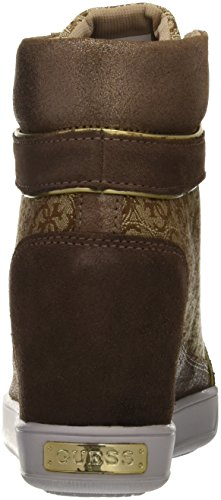 Guess Damen Furr High-Top Marrone (Beibr)